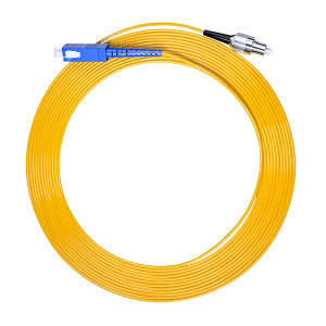 FIBERHOME/烽火通信 单模单芯光纤跳线 SC-FC-3M 黄色 1条