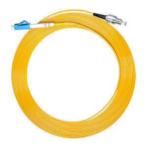FIBERHOME/烽火通信 单模单芯光纤跳线 LC-FC-3M 黄色 1条