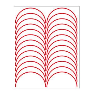 SHUPEI/舒沛 压力表反光圆弧贴 压力表反光圆弧贴 红色 宽3mm 外径150mm 弧长235.5mm 半圆弧 国产聚苯乙烯材质 24条 1张