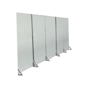ZKH/震坤行 挡板 1300×400×2450mm 表面喷灰色漆 骨架使用30×30mm方管焊接 板面使用1mm厚钢板雨骨架焊接 1个