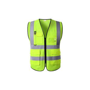 ABS/安博世 经济款多口袋反光背心 SVM-1047 L 荧光黄 1件