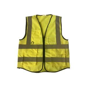 ABS/安博世 经济款多口袋反光背心 SVM-1047 XL 荧光黄 1件
