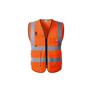 ABS/安博世 经济款多口袋反光背心 SVM-1047 L 荧光橙 1件