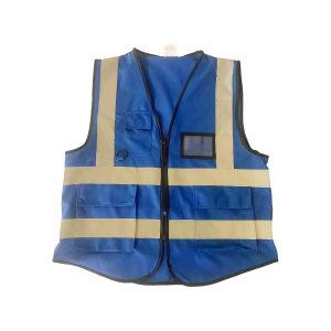 ABS/安博世 经济款多口袋反光背心 SVM-1047 L 宝蓝色 1件