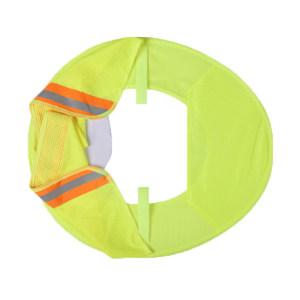 ABS/安博世 安全防护遮阳帽 QT-ZYM01 适配安全帽 均码 荧光黄 1个