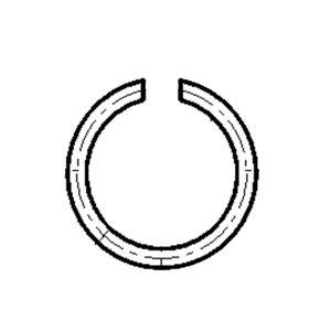 GC/国产 GB895.2 轴用钢丝挡圈 碳钢 发黑 φ32 1个