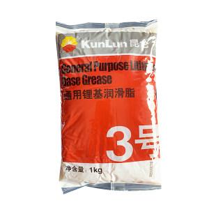KUNLUN/昆仑 润滑脂 通用锂基脂-3# 1kg×10袋 1箱