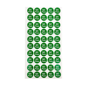 KANKUN QC PASS绿色圆形标签 QC PASS绿色圆形标签 铜版纸 φ20mm 2000个 1包