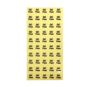 KANKUN QC PASS透明圆形标签 QC PASS透明圆形标签 铜版纸 φ20mm 2000个 1包