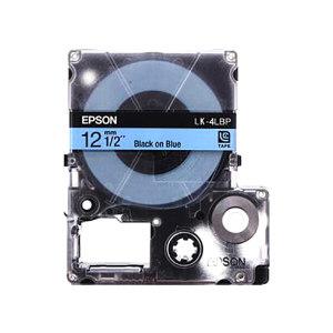 EPSON/爱普生 标签色带 LK-4LBP 蓝底黑字 适用LW-K400L/LW-600P/LW-700/LW-1000P/LW-Z700/LW-Z900 宽12mm 1个