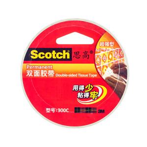 3M 高效型双面胶带 300c 18mm×9.5m 8卷 1包