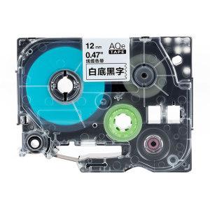 AIMO/爱墨 线缆标签(白底黑字) AQe-FX231 12mm×8m 1盒