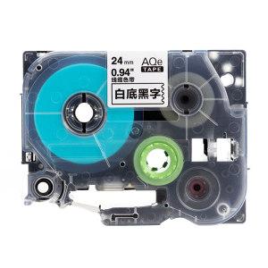 AIMO/爱墨 线缆标签(白底黑字) AQe-FX251 24mm×8m 1盒