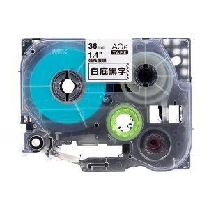 AIMO/爱墨 强粘标签(白底黑字) AQe-S261 36mm×8m 1盒