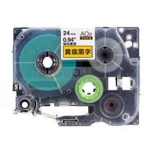 AIMO/爱墨 强粘标签(黄底黑字) AQe-S651 24mm×8m 1盒