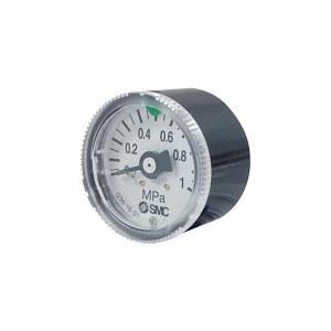 SMC G36系列圆形压力表 G36-10-01 压力范围0~1MPa 标准式 表盘外径37.5mm 接口R1/8 1个