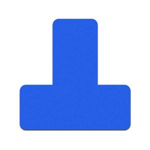 SAFEWARE/安赛瑞 桌面5S管理定位贴(T型) 28074 磨砂PVC 30×30×10mm 蓝色 100个 1包