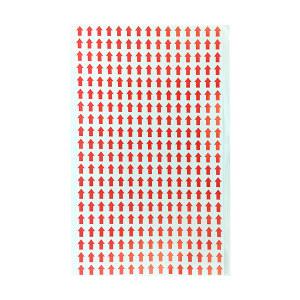 SAFEWARE/安赛瑞 红色箭头标签 24619 8×10mm 方形 6000个 1包