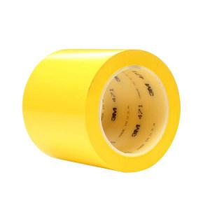 3M PVC标识警示胶带 471 黄色 100mm×33m 1卷