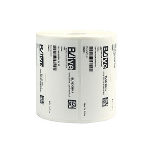 "BLIVE PET亚白标签纸 BL-YB-80*60-2350-10 80×60mm 3""大卷芯 2350张×10卷 1包"