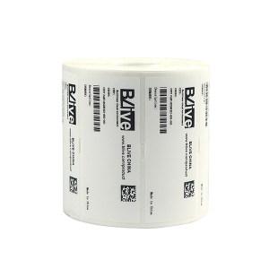 "BLIVE PET亮白标签纸 BL-LB-80*50-1100-25 80×50mm 1.5""小卷芯 1100张×25卷 1包"