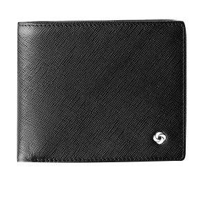 SAMSONITE/新秀丽 横式钱夹 BN5*09004 112×93×20mm 外部牛剖层革 内部织物 黑色 1个