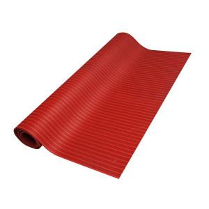 ECOBOOTHS/爱柯部落 条纹款橡胶绝缘地垫 0.8m×0.8m×10mm 红色 1块