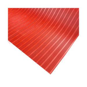 ECOBOOTHS/爱柯部落 条纹款橡胶绝缘地垫 0.8m×0.8m×3mm 红色 1块