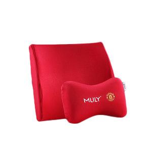 MLILY/梦百合 曼联传奇7号车载系列套装 6947410599417 腰靠350×340×120mm 头枕300×200×150mm 红色 1套
