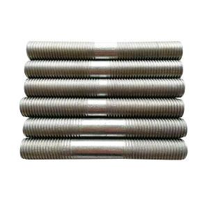 ZKH/震坤行 GB901 双头螺栓 碳钢 8.8级 镀锌 M10×100 配2螺母2平垫 1个