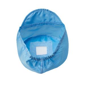 RH/瑞恒 防静电小工帽 3502-00001 均码 蓝色 条纹 软帽檐 开天窗 半松紧 1个