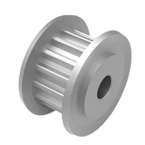 LV/立韦 铝制本色阳极氧化S3M同步轮 SLA-14-060S3M-A-H4 齿数14 齿宽7mm 内孔尺寸4mm 1个
