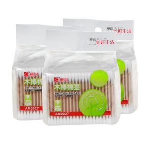 ZX/振兴 袋装木棒棉签 AM0027 500支 1包