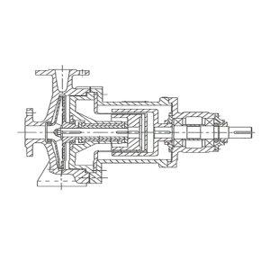 BY/博禹 磁力驱动泵 32CQ-25FB 额定流量4.8m³/h 接口DN32/DN25 额定扬程25m 塑料泵体 380V 1台