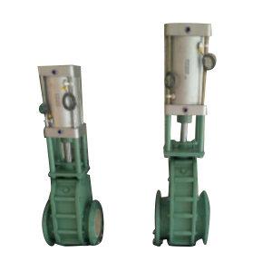 YUANDA/远大阀门 气动陶瓷双闸板阀 Z644TC-10C-DN100 法兰连接接口 公称压力10bar 1台