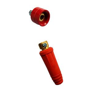 JILI/集力 电焊机快速接头 DKJ35-50(欧式、红色) 含公母头各1个 1套