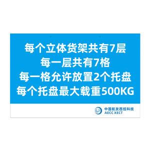 GOSIM/国新 中央零件库标识牌 定制 1mm×93cm×60cm 铝板 蓝底白字 1块
