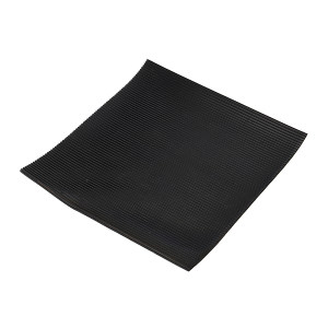 KUKE/酷珂 条纹橡胶绝缘地垫 QY-3mm黑 1×10m 1个