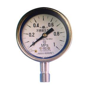 BAIYUN/白云牌 全不锈钢压力表 Y-60BF 0~2.5MPa M14×1.5 2.5级 径向 1个