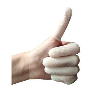 SAFEWARE/安赛瑞 麻点防滑乳胶手指套 12516 L 白色 600只 1包