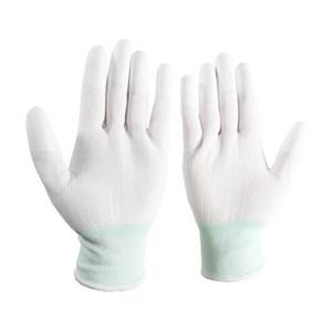 FUXING/伏兴 防静电PU涂指手套 FX521 均码 乳白色 尼龙面料 10双 1袋