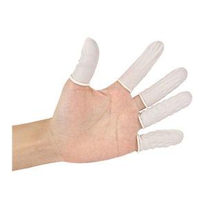 FUXING/伏兴 乳胶手指套 FX520 均码 乳白色 500g 防静电 无粉 900只 1袋