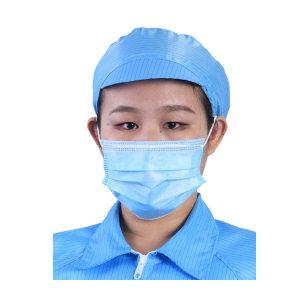 RH/瑞恒 防静电小工帽(非标) 3502-00019 均码 蓝色 网格 半松紧 硬帽檐 开天窗 1个