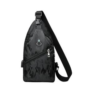 HYX/恒源祥 经典潮流时尚胸包 HYX030XB 400×250×240mm 防泼水牛津布 黑色/灰色/蓝色随机 里布织物面料 1个
