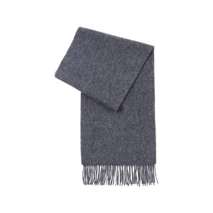 HYX/恒源祥 纯羊毛围巾 HYX011WJ 300×1800mm 深灰色 1条
