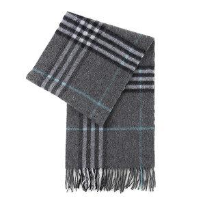 HYX/恒源祥 纯羊毛围巾 HYX013WJ 300×1800mm 灰色格纹 1条