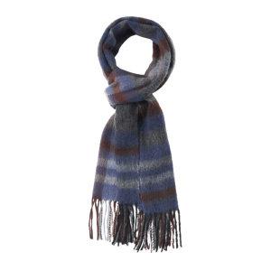 HYX/恒源祥 纯羊毛围巾 HYX022WJ 300×1800mm 蓝棕格 1条