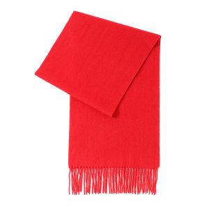 HYX/恒源祥 羊绒围巾 HYX023WJ 300×1800mm 90%羊绒+10%羊毛 大红色 1条