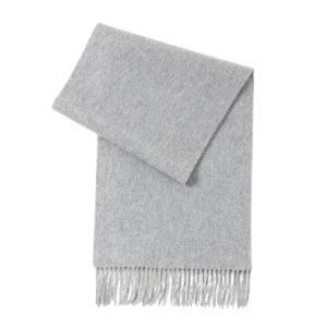 HYX/恒源祥 羊绒围巾 HYX024WJ 300×1800mm 90%羊绒+10%羊毛 浅灰色 1条