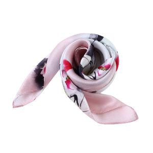 HYX/恒源祥 素绉缎真丝方巾 HYX015WJ 500×500mm 100%桑蚕丝 粉色 1条